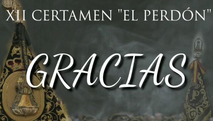 """XII Certamen """"El Perdón"""": agradecimiento"""
